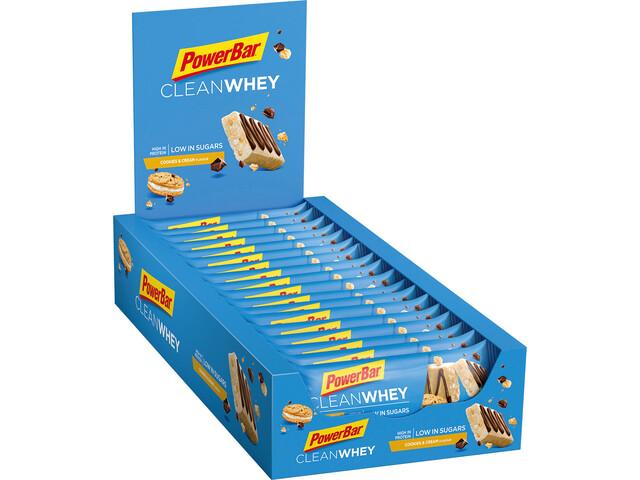 PowerBar Clean Whey Boîte de barres 18x45g, Cookies & Cream